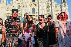 Milan: Dylan Dog 30th anniversary zombie walk, 26 September 2016
