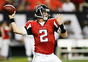 ATLANTA - AUGUST 29:  Quarterback Matt Ryan #2 of the Atlanta Falcons throws a pass during the game against the San Diego Chargers at the Georgia Dome on August 29, 2009 in Atlanta, Georgia.  The Falcons beat the Chargers 27-24.  (Photo by Mike Zarrilli/Getty Images)