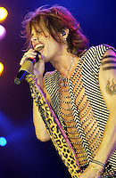 Steven Tyler of Aerosmith performing on the United We Stand: What More Can I Give? Concert. A music benefit in support of the recovery efforts from the September 11 attack on America.  The proceeds will go to various Relief Funds. October 21, 2001 (Jeff Snyder)