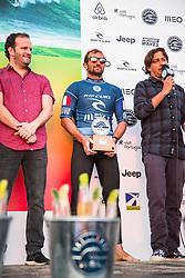 October 20, 2018 - Peniche, Portugal - French surfer Joan Duru came in second. (Credit Image: © Henrique Casinhas/NurPhoto via ZUMA Press)