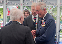 © Licensed to London News Pictures. 10/5/2015.  London.   Veterans and their families were met by HRH the Prince of Wales today in a reception hosted by the Royal British Legion in St James Park.  The reception concluded a weekend of events to commemorate the 70th Anniversary of the VE Day.    Photo credit : Alison Baskerville/LNP