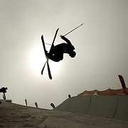 Devin Logan USA, in action while winning the Ladies Freeski Halfpipe event at the Winter Games at Cardrona, Wanaka, New Zealand. 17th August 2011. Photo Tim Clayton...