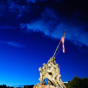 Iwo Jima Memorial, Arlington, Virginia, in the evening Editorial use only.