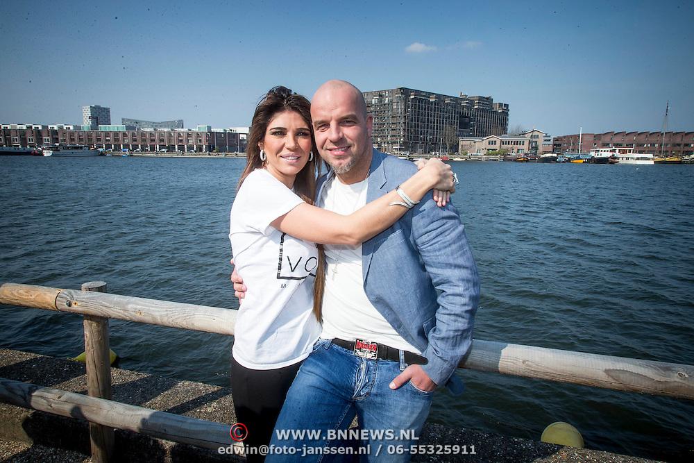 NLD/Amsterdam//20140327 - Perspresentatie Sterren Springen 2014, Andy van der Meyden en partner Melisa Schaufeli