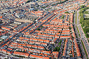 Nederland, Zuid-Holland, Katwijk, 15-07-2012; Katwijk de buurten Overduin en Koestal, rechts de Parklaan...Residential areas of the fishing village of Katwijk (West Netherlands).luchtfoto (toeslag), aerial photo (additional fee required).foto/photo Siebe Swart