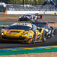 #66, Ferrari 488 GTE Evo, JMW Motorsport, drivers: R. Heistand, M. Root, J. Magnussen, GTE Am, FP2, Le Mans 24H , 2020, on 17/09/2020