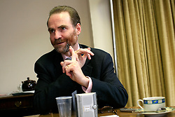 UNITED KINGDOM OXFORD 9JUN09 - Historian Timothy Garton Ash reacts during an interview at his office at St. Anthony's College, Oxford, England. Garton Ash is the British author of eight books of political writing or 'history of the present' which have charted the transformation of Europe over the last quarter-century. He is Professor of European Studies in the University of Oxford, Isaiah Berlin Professorial Fellow at St Antony's College, Oxford, and a Senior Fellow at the Hoover Institution, Stanford University.  ..jre/Photo by Jiri Rezac..© Jiri Rezac 2009