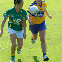 22 August 2007; Sinead Brennan, left, Leitrim, and Majella Griffin, Clare, who are representing two of the remaining teams in the Senior and Intermediate Championships to be broadcast on TG4. The semi-finals for both competitions are on consecutive weekend's starting Saturday 25th August 2007. TG4 will broadcast a live doubleheader from Portlaoise this Saturday starting at 5.15pm and a second doubleheader from Breffni Park the following Saturday. Dublin University Cricket Grounds, Trinity College, Dublin. Picture credit: Ray Lohan / SPORTSFILE *** NO REPRODUCTION FEE ***