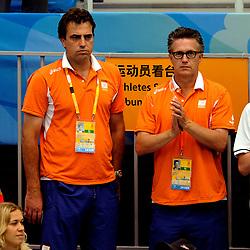 15-08-2008 ZWEMMEN: OS 2008 ZWEMMEN: BEIJING<br /> Jeroen Bijl en Charles van Commenee<br /> ©2008-WWW.FOTOHOOGENDOORN.NL