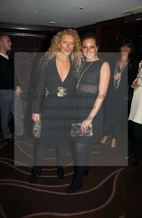 Left to right, interior designer KELLY HOPPEN and her daughter NATASHA CORRETT at a party following the premier of Blood Diamonds hosted by Amnesty at The Dorchester, Park Lane, London on 23rd January 2007.<br /><br />NON EXCLUSIVE - WORLD RIGHTS