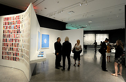 Press preview, on September 1, 2016 held for 'Rendering the Unthinkable:  Artists Respond to 9/11', a major exhibition at the 9/11 Memorial Museum featuring artworks by 13 artists reacting to the terror attacks. of 2001 in New York City, NY, USA. The exhibition includes Blue Man Group's video 'Exhibit 13'; Gustavo Bonevardi's collection of 16 drawings, 'Falling'; Eric Fischl's bronze statue 'Tumbling Woman'; and a portion of Manju Shandler's 'Gesture', which features 2,996 pieces, representing the death toll at the time of creation. Exhibition opens to the public 12 Sep. This year marks the 15th anniversary of the 9/11 attacks. Photo by Dennis Van Tine/ABACAPRESS.COM  | 561288_015 New York City Etats-Unis United States