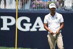 August 10, 2018 - St. Louis, Missouri, United States - Satoshi Kodaira waits to putt the 9th green during the second round of the 100th PGA Championship at Bellerive Country Club. (Credit Image: © Debby Wong via ZUMA Wire)