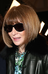 Dame Anna Wintour on the front row during the Erdem Autumn/Winter 2019 London Fashion Week show at The National Portrait Gallery, London.