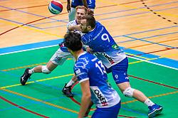 Steven Ottevanger of Lycurgus, Erik van der Schaaf of Lycurgus in action during the semi cupfinal between Active Living Orion vs. Amysoft Lycurgus on April 03, 2021 in Saza Topsportshall Doetinchem