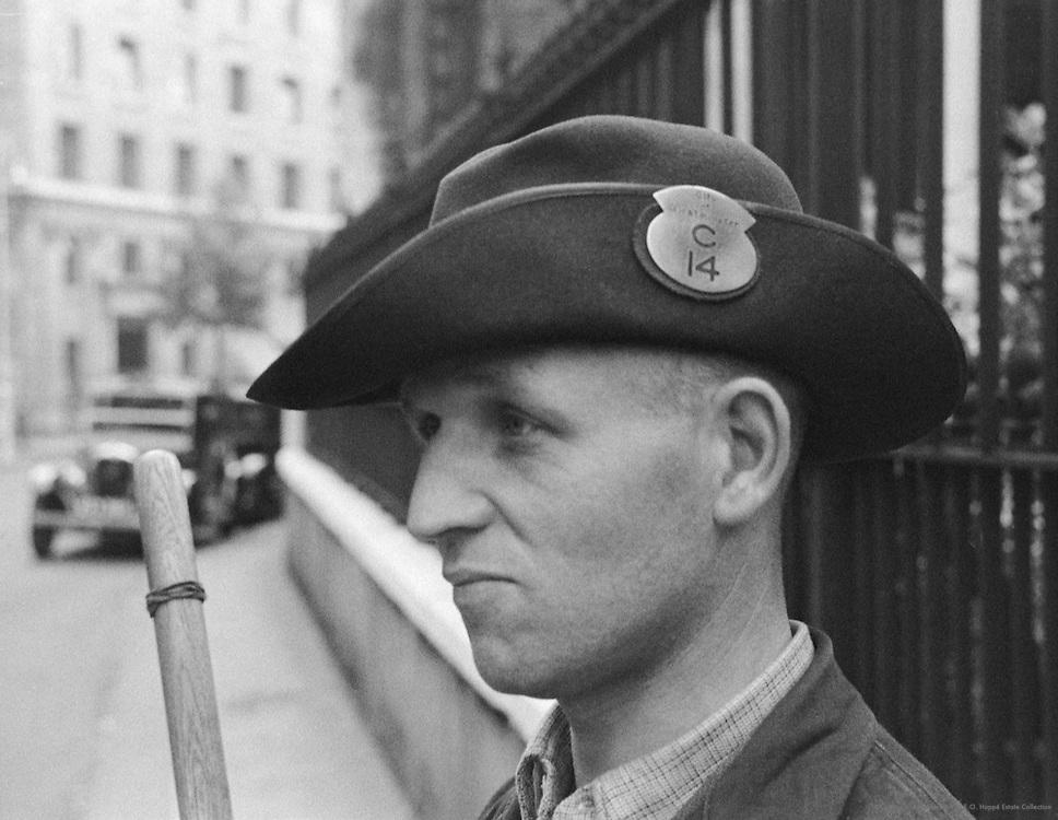 Street Cleaner's Hat, London, 1935