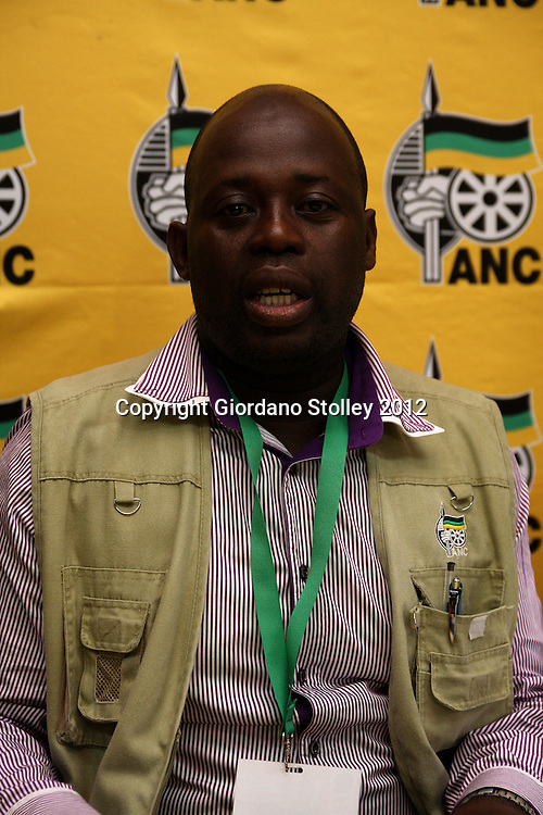 NEWCASTLE - 12 May 2012 - Senzo Mkhize, a member of the African National Congress' KwaZulu-Natal provincal executive committee speaks to the media at the party's provincial conference.Picture: Giordano Stolley/Allied Picture Press/APP