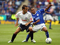Photo: Chris Ratcliffe.<br />Leicester City v Ipswich Town. Coca Cola Championship. 12/08/2006.<br />Sito Castro (L) of Ipswich clashes with James Wesolowski of Leicester.