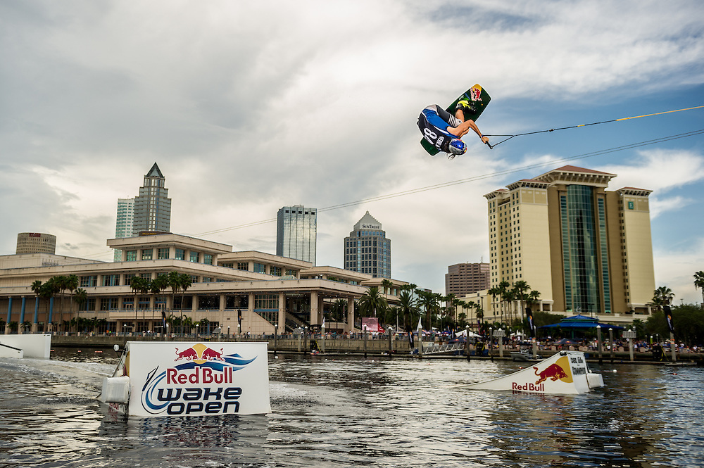 Dominik Hernley performs  at RedBull Wake Open in Tampa, Florida on July 13th, 2012