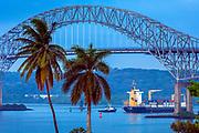 Bridge Of The Americas, the Pacific Ocean entrance to the Panama Canal, Panama City, Panama.