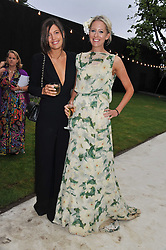 Left to right, AMANDA SHEPPARD and The HON.SOPHIA HESKETH at the annual Serpentine Gallery Summer Party sponsored by Burberry held at the Serpentine Gallery, Kensington Gardens, London on 28th June 2011.