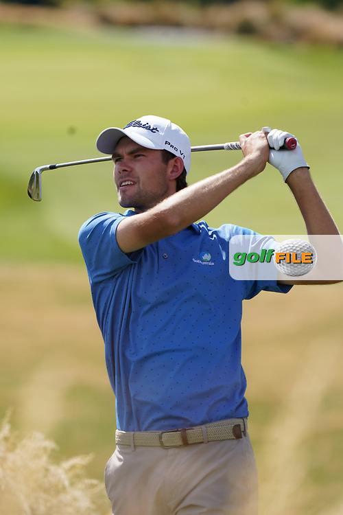 Zach Murray (AUS) In action on the 5th hole Hills Course during the second round of the New Zealand Open 2020, Millbrook Resort, Queenstown, New Zealand. 27/02/2020<br /> Picture: Golffile   Phil Inglis<br /> <br /> <br /> All photo usage must carry mandatory copyright credit (© Golffile   Phil Inglis)