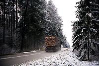 Podlasie, 30.11.2020. Pierwsze wieksze opady sniegu na Podlasiu tej zimy N/z fot Michal Kosc / AGENCJA WSCHOD