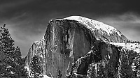 Half Dome. Yosemite Valley in the Winter. Yosemite National Park. Image taken with a Nikon D3x camera and 70-200 mm f/2.8 lens.