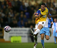 Photo: Paul Greenwood.<br />Chester City v Hereford United. Coca Cola League 2. 12/10/2007.<br />Hereford's Steve Guinan shoots on goal
