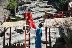 August 27, 2017 - Hangzhou, Hangzhou, China - Hangzhou, CHINA-27th August 2017: (EDITORIAL USE ONLY. CHINA OUT)..Young single people wearing traditional Chinese clothes attend a special matchmaking activity in Hangzhou, east China's Zhejiang Province, marking the Chinese Valentine's Day. (Credit Image: © SIPA Asia via ZUMA Wire)