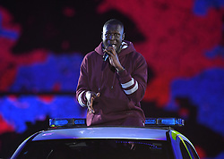 Stormzy on stage during the MTV Europe Music Awards 2017 held at The SSE Arena, London. Photo credit should read: Doug Peters/EMPICS Entertainment