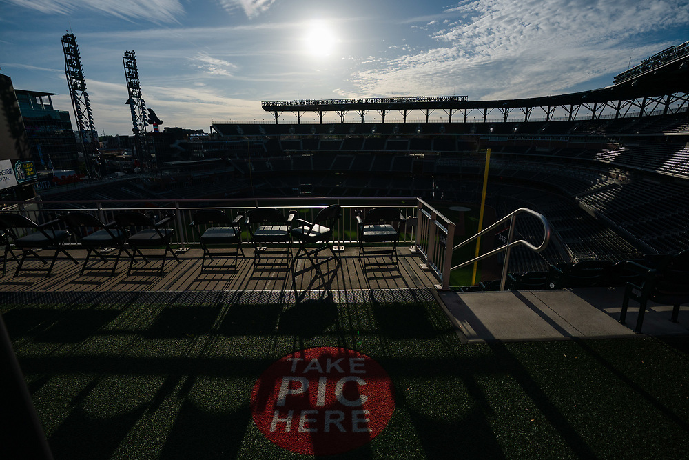 Empty Truist Park on Thursday, April 9, 2020 because of coronavirus. Photo by Kevin D. Liles for the Atlanta Braves