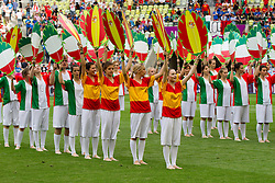 Show group perform prior to the UEFA EURO 2012 group C match between Spain and Italy at The Arena Gdansk on June 10, 2012 in Gdansk, Poland.  (Photo by Vid Ponikvar / Sportida.com)