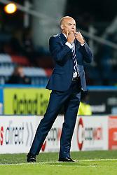 Manager Uwe Rosler of Wigan whistles - Photo mandatory by-line: Rogan Thomson/JMP - 07966 386802 - 16/09/2014 - SPORT - FOOTBALL - Huddersfield, England - The John Smith's Stadium - Huddersfield Town v Wigan Athletic - Sky Bet Championship.