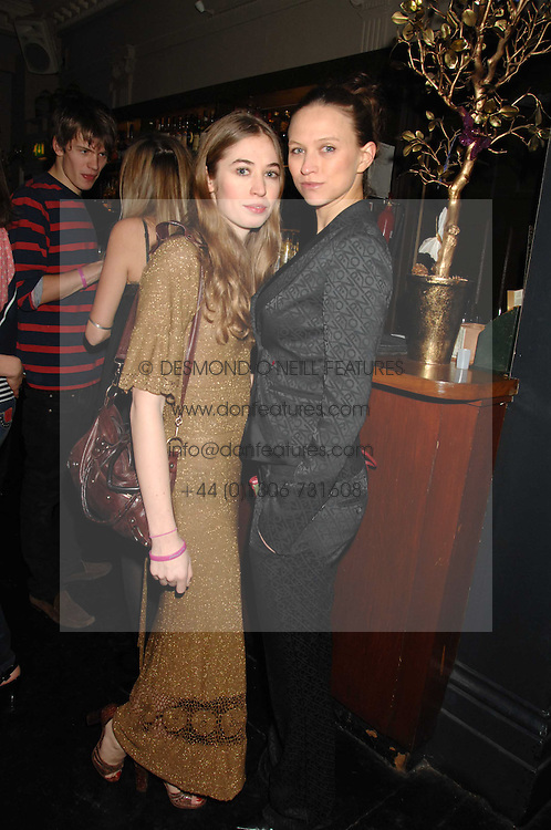Left to right, ANOUSKA GERHAUSER daughter of Tamara Beckwith and AMY DRON at a leaving party for Poppy Delevigne who is going to New York to persue a career as an actress, held at Chloe, Cromwell Road, London on 25th January 2007.<br /><br />NON EXCLUSIVE - WORLD RIGHTS