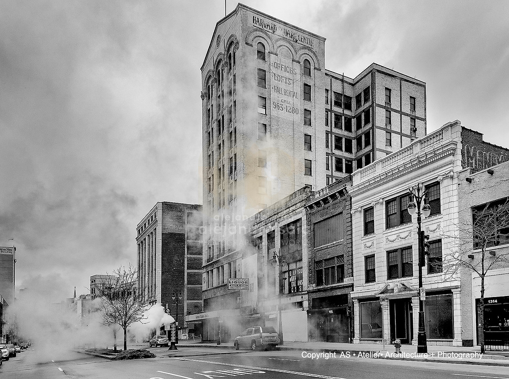Detroit, Michigan, United States - March, 2019: Building at Broadway Street . Photographs by Alejandro Sala