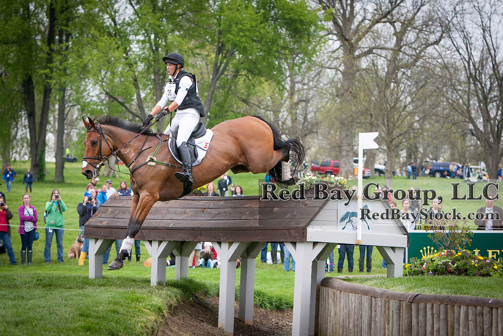 Shandiss McDonald and Rockfield Grant Juan at the 2013 Rolex Kentucky Three-Day Event held at the Kentucky Horse Park in Lexington, KY.