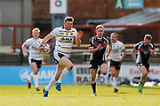 York City Knights second row Joe Batchelor (11) breaks away to score a try during the Betfred League 1 match between York City Knights and Keighley Cougars at Bootham Crescent, York, England on 25 March 2018. Picture by Simon Davies.
