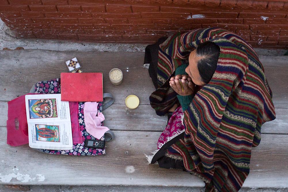 Tibetan women praying.