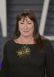 February 24, 2019 - Beverly Hills, California, U.S - Anjelica Huston on the red carpet of the 2019 Vanity Fair Oscar Party held at the Wallis Annenberg Center in Beverly Hills, California on Sunday February 24, 2019. JAVIER ROJAS/PI (Credit Image: © Prensa Internacional via ZUMA Wire)