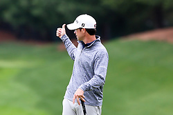 June 23, 2018 - Cromwell, Connecticut, United States - Brian Harman signals to the crowd before putting the 8th green during the third round of the Travelers Championship at TPC River Highlands. (Credit Image: © Debby Wong via ZUMA Wire)