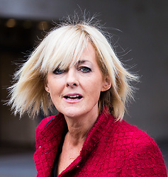 London, October 22 2017. Journalist, author and television presenter Jane Moore after appearing on the Andrew Marr show at the BBC New Broadcasting House in London. © Paul Davey