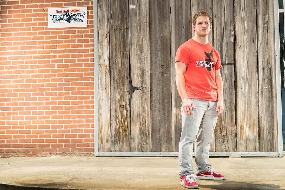 Max Vaneck poses for a portrait at Red Bull Throwdown in Atlanta, Georgia on August 25th, 2013