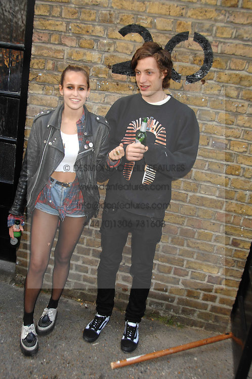 ALICE DELLAL and JAMES JAGGER at a party to celebrate the opening of a new art gallery, 20 Hoxton Square, Hoxton Square, London on 27th April 2007.<br /><br />NON EXCLUSIVE - WORLD RIGHTS