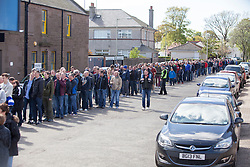 Quests outside delay the kick off. Montrose v Brora Rangers, Scottish League Two play-off second leg, today at Links Park, Montrose.