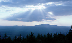 Evening clouds over Mt. Monadnock from Pack Monadnock, NH