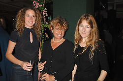 Left to right, sisters CHARITY CREWE, SABRINA CREWE and CANDIDA CREWE daughters of the late Quentin Crewe at a party to celebrate the 60th anniversary of House & Garden magazine held at Bonhams, 101 New Bond Street, London on 4th October 2007.<br />