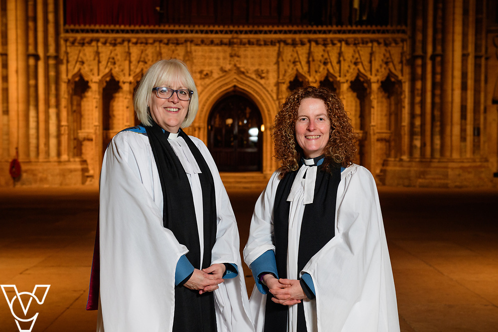 Revd Sal McDougall has been appointed the next Precentor of Lincoln Cathedral.  Pictured, from left, The Very Reverend Christine Wilson, Dean of Lincoln, and Reverend Sal McDougall.<br /> <br /> Picture: Chris Vaughan Photography<br /> Date: March 20, 2017