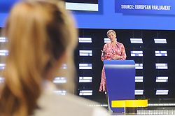 May 27, 2019 - Brussels, Brussels, Belgium - The candidate to head the European Commission Margrethe Vestager (ALDE group), in a press conference following the results of the European elections 2019. (Credit Image: © Nicolas Landemard/Le Pictorium Agency via ZUMA Press)