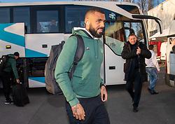 February 22, 2019 - Dijon, France - Yann M Vila ( Saint Etienne ) - Arrivee des joueurs de Saint Etienne (Credit Image: © Panoramic via ZUMA Press)
