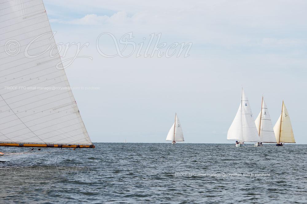 Gleam, Northern Light, Weatherly, and Onawa sailing in the Opera House Cup Regatta.